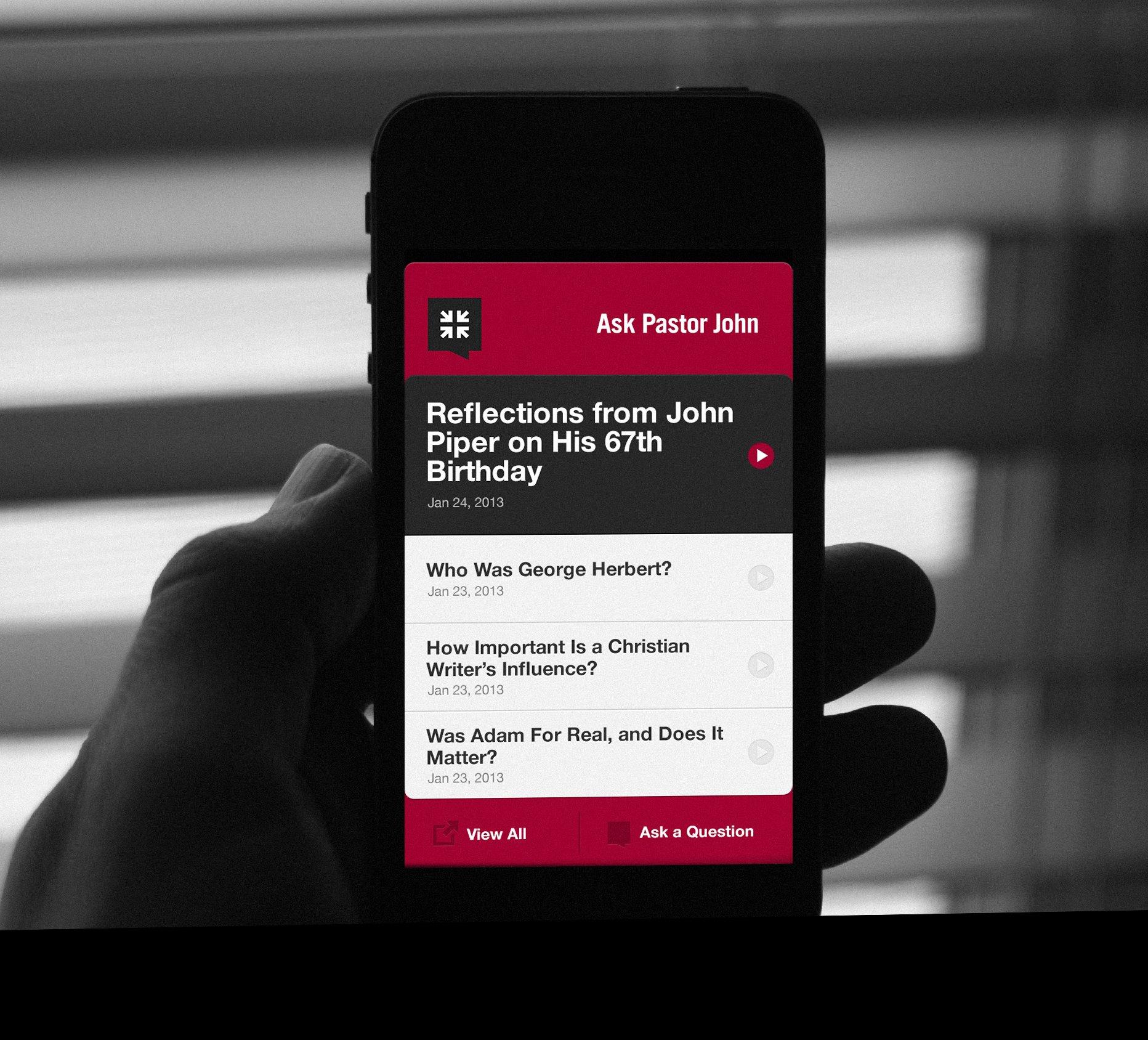 Ask Pastor John iOS App