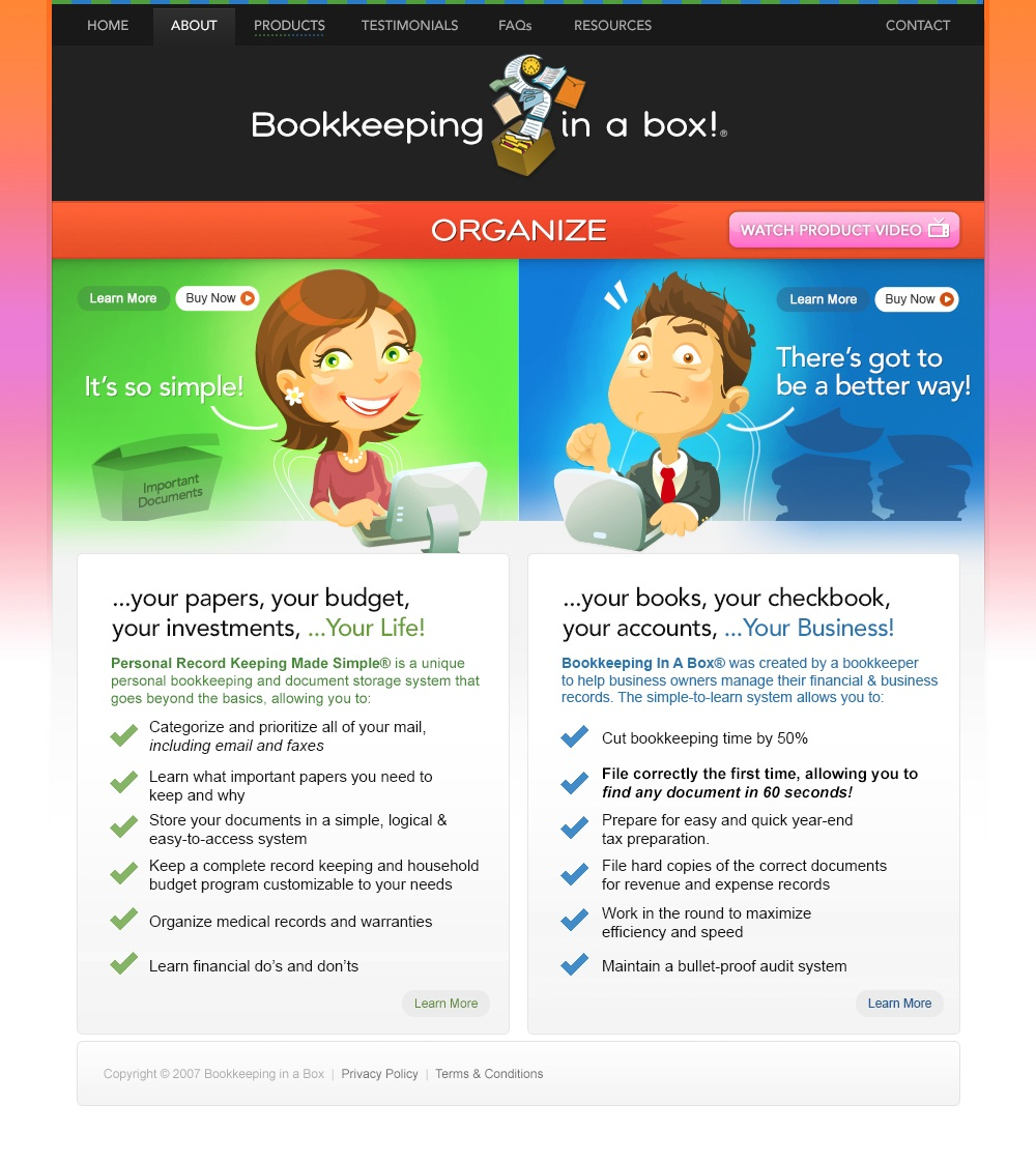 Bookkeeping in a Box
